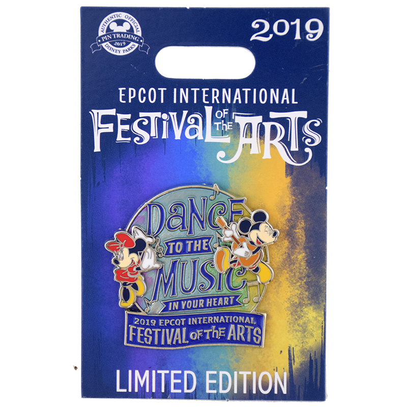 Disney Festival of the Arts Pin - 2019 Mickey Minnie Dance to the Music