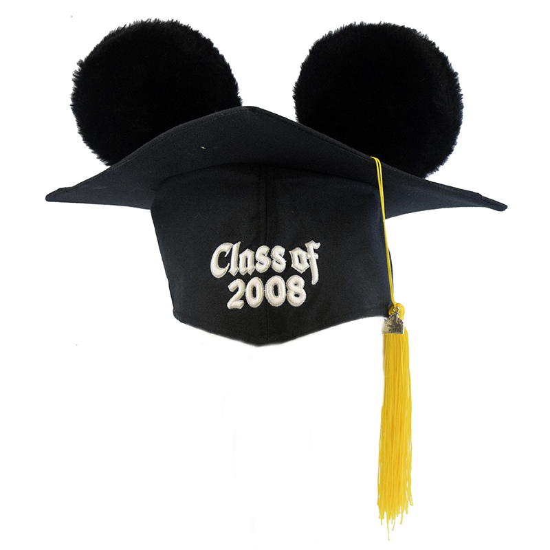Disney Hat - Ears Graduation Cap - Class of 2008 - Mortarboard