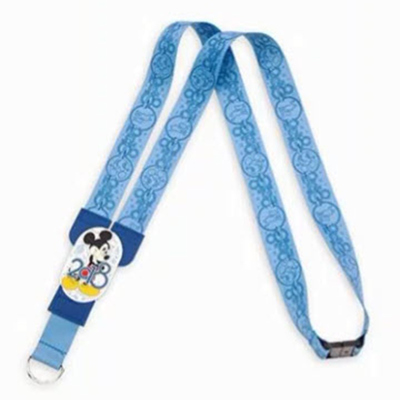 Disney Reversible Lanyard - 2018 Walt Disney World Logo -  Mickey Mouse