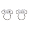 Disney Rebecca Hook Earrings - Minnie Icon Studs - Silver Bow