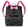 Disney Loungefly Mini Backpack - Minnie Mouse Rock the Dots - Drawstring Foldover