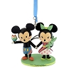 Disney Figurine Ornament - Mickey and Minnie Mouse - Contemporary Resort Logo