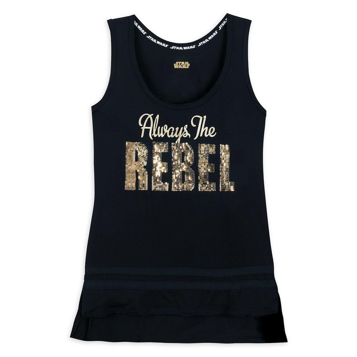 aa3c280c10a7e5 Disney Women s Tank Top - Star Wars Always a Rebel