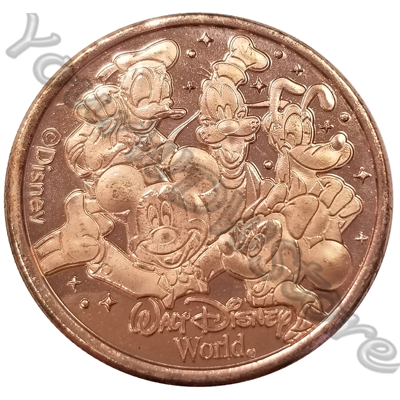 Disney World Pocket Token Coin - Disney Springs - Mickey and Pals - Fab 5