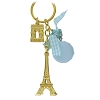 Disney Keychain Keyring - EPCOT World Showcase - France - Eiffel Tower - Blue
