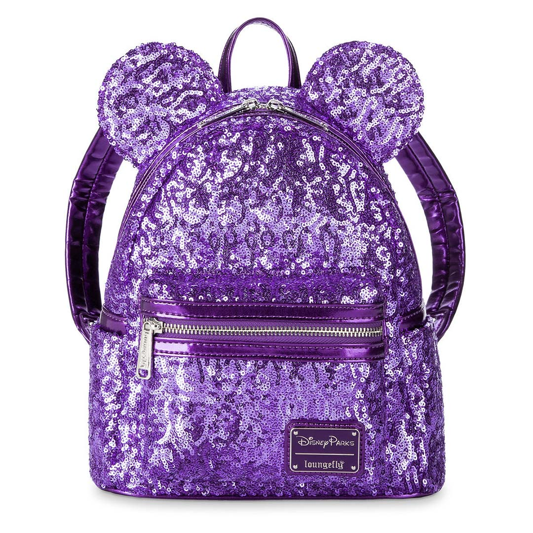 Add to My Lists. Disney Loungefly Mini Backpack - Minnie Purple Potion  Sequin 99c8367509e03