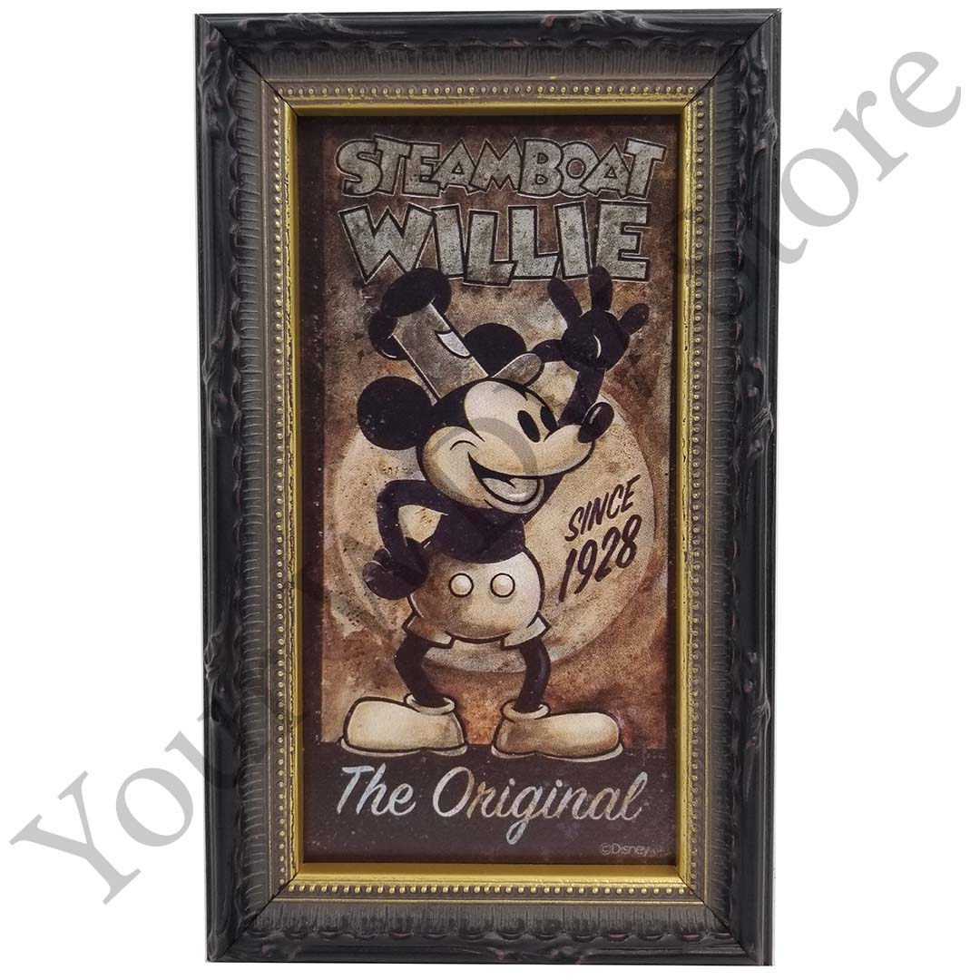 Disney Framed Giclee - Steamboat Willie the Original by Darren Wilson