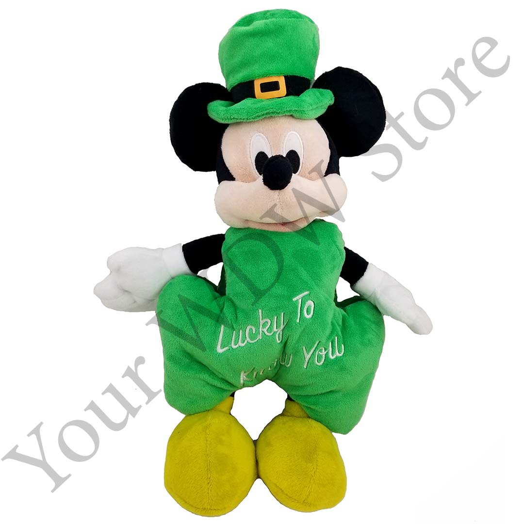 77aa1a197 Add to My Lists. Disney Plush - St. Patrick's Day Mickey Mouse 2019