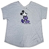 Disney Ladies Shirt - Purple Potion Sequin Mickey Mouse