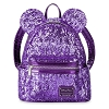 Disney Loungefly  Mini Backpack - Minnie Purple Potion Sequin