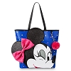Disney Loungefly Tote - Minnie Mouse Winking - Blue with Pink Bow