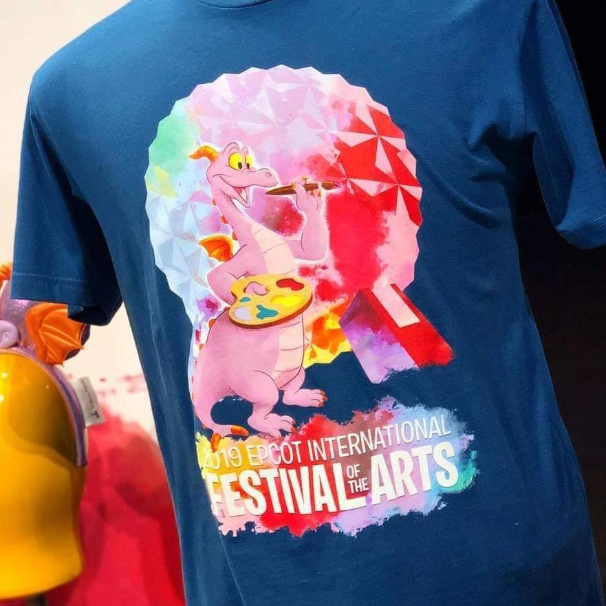 Disney Tee Shirt 2018 Epcot Festival Of The Art Figment Tee