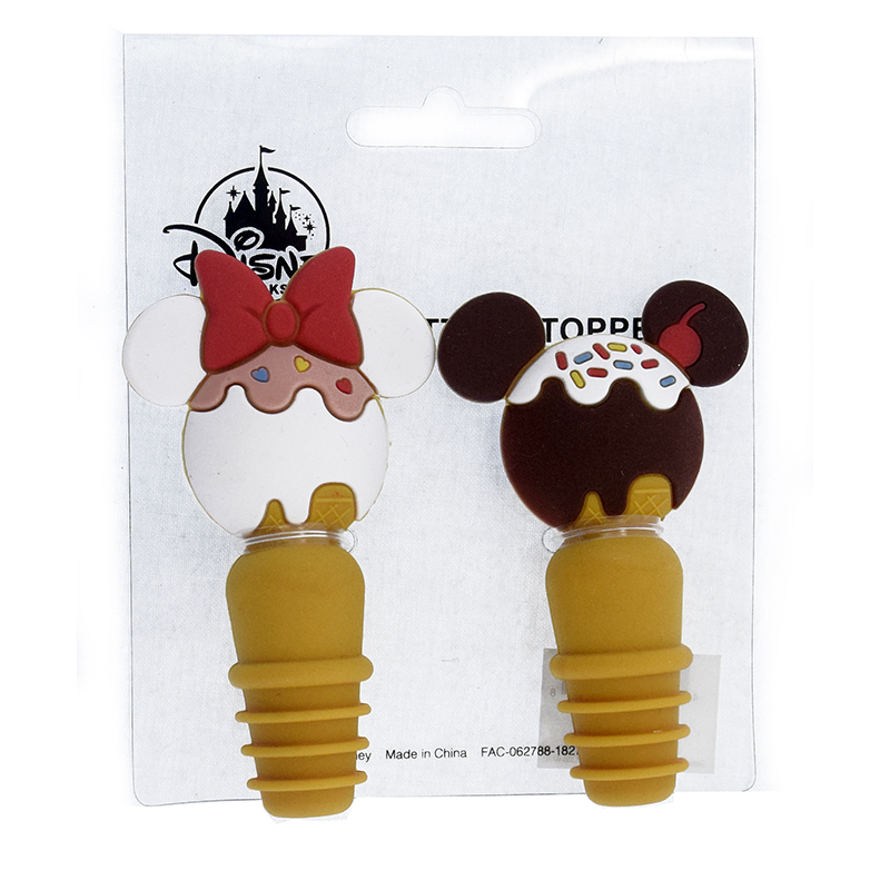 Disney Bottle Stopper Set - Mickey and Minnie Mouse - Park Snacks