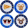 Disney Plastic Plates Set - Disney Park Snack Icons