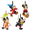 Disney Ornament Set - Mickey Mouse Through the Years Set #2 - 4 pc.
