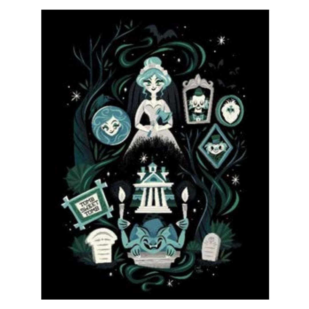 Disney Print - A Ghoulish Good Time by Caley Hicks