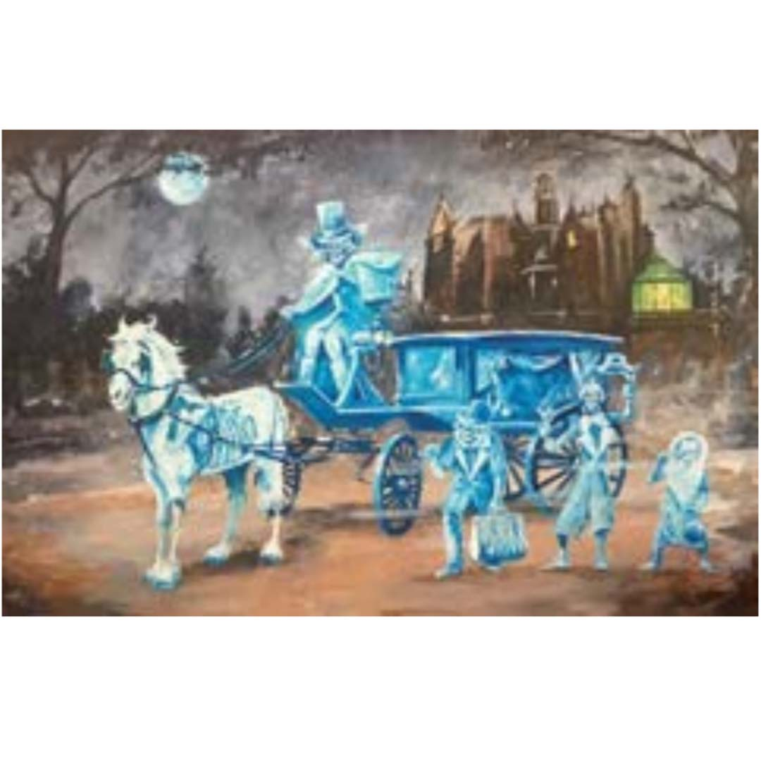 Disney Print - Kim Gromoll - Haunted Mansion Carriage