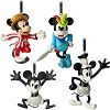 Disney Ornament Set - Mickey Mouse Through the Years Mini Set #1 - 4 pc.