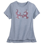 Disney Women's Shirt - Minnie Rhinestone Bow