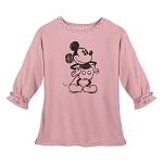 Disney Women's Shirt - Mickey Mouse - Pearl Neckline