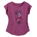 Disney Women's Shirt - Rhinestone Minnie Mouse