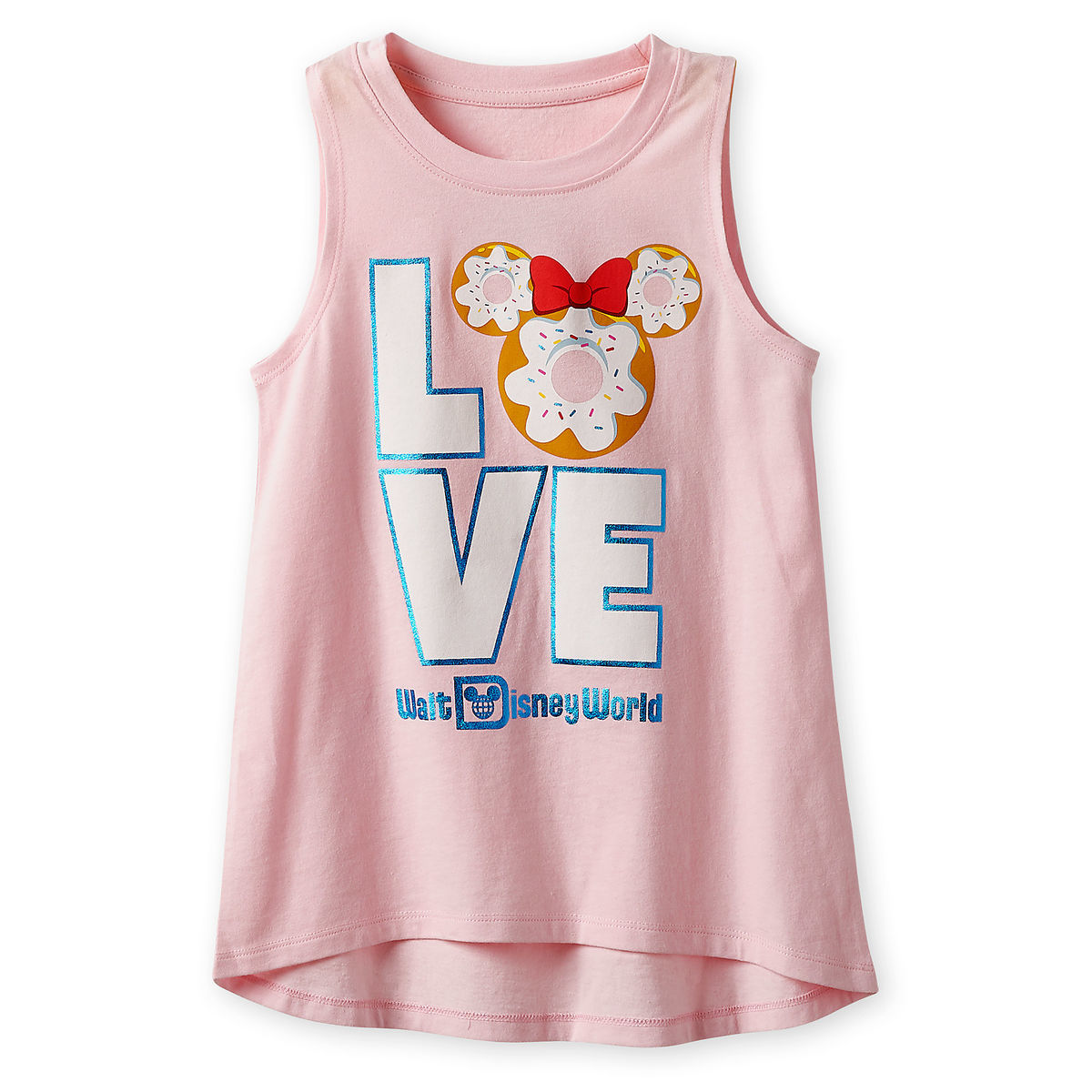 Disney Girl's Shirt - Minnie Mouse Donut Tank Top