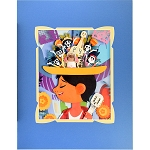 Disney Artist Print - Fenway Fan - My Pretty Pretty Hat - Miguel Rivera and His Family