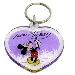 Disney Acrylic Keychain - Love Mickey Mouse - Heart