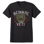 Disney Adult Shirt - Expedition Everest - Beware The Yeti - Black