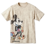 Disney Adult Shirt - Mickey Mouse Through the Years - Tan