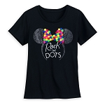 Disney Women's Shirt - Minnie Ears Headband Rock the Dots