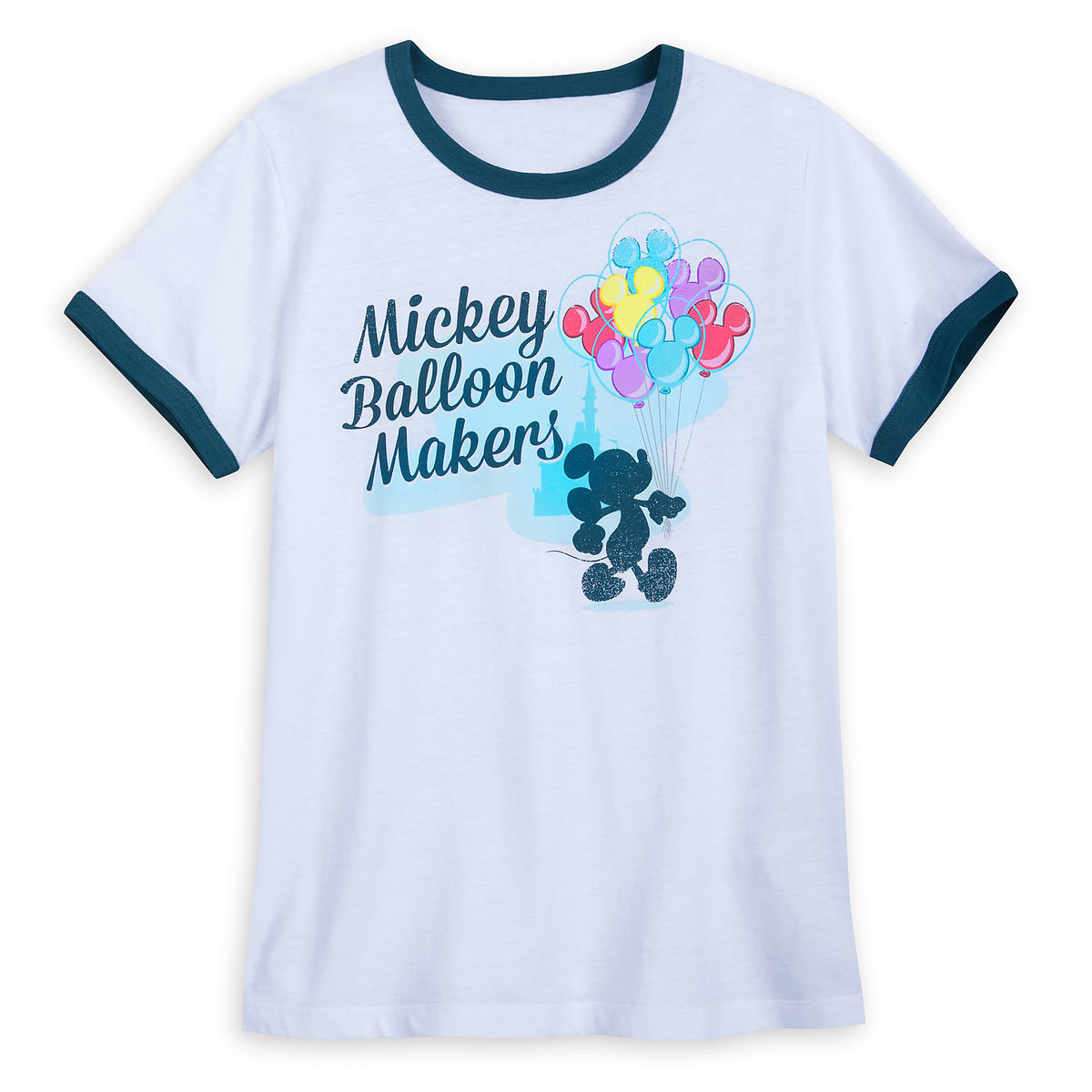 Disney Women's Shirt - Mickey Mouse Balloon Makers Ringer