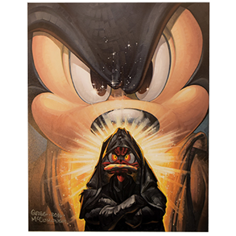 Disney Unstretched Canvas Gallery Wrap - Greg McCullough -  Mickey Wan vs. Duckmaul - Signed