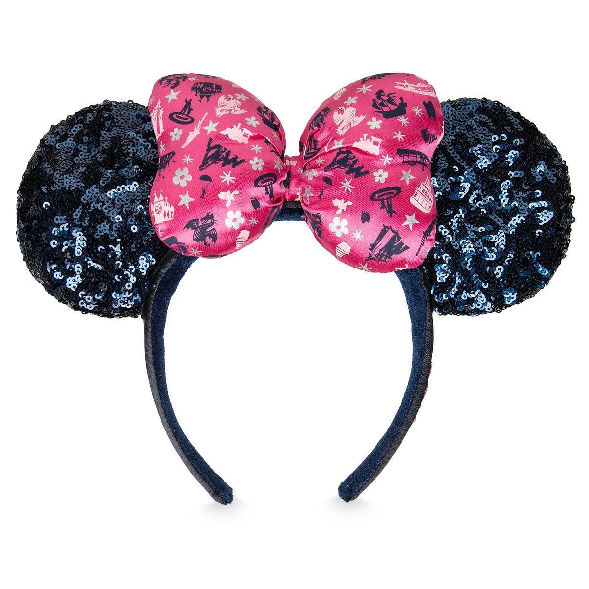 Christmas Minnie Ears 2019.Disney Ears Headband 2019 Disney Parks Icons Minnie Bow