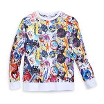 Disney Girl's Shirt - Allover Disney Passport Collection Long Sleeve Pullover