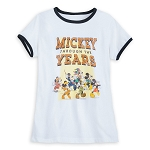 Disney Women's Shirt - Mickey Through the Years Ringer