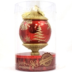 Busch Gardens Ornament - Red and Gold teardrop LE 250