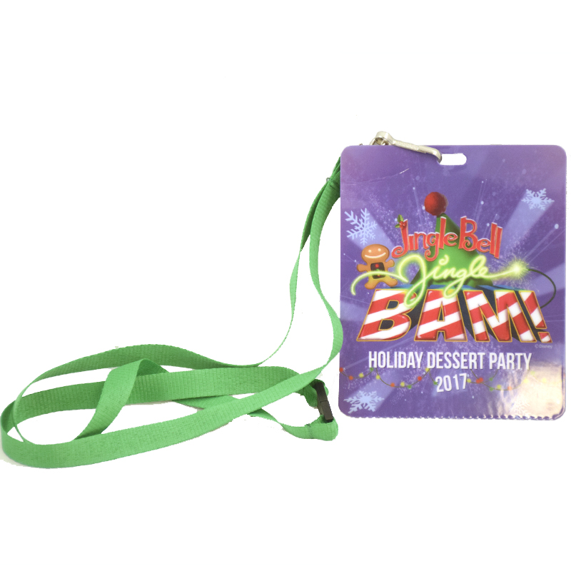 Disney Pin Lanyard / Credential - Jingle Bell Jingle Bam Dessert Party 2017