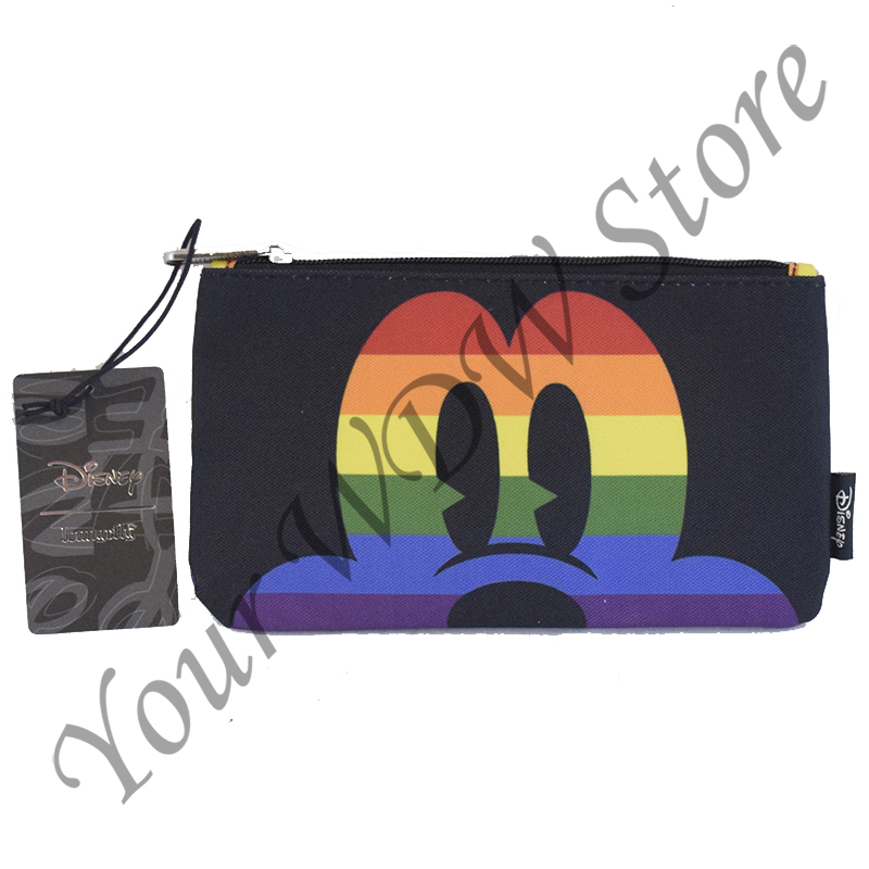 Disney Loungefly Zip Pouch -  Rainbow Mickey Face