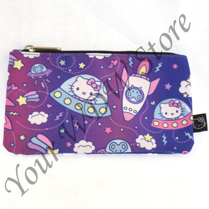 Universal Loungefly Zip Pouch - Hello Kitty Outer Space Spaceships