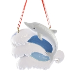 SeaWorld Ornament - Dolphin on Waves