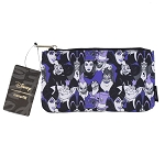Disney Loungefly Zip Pouch - Allover Villains in Purple