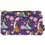 Disney Zip Pouch - Princess Jasmine and Tiger Rajah