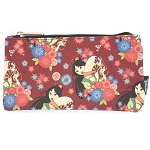 Disney Zip Pouch -  Princess Mulan Flower Fan