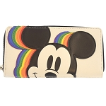 Disney Loungefly Zip Around Wallet - Large Mickey Rainbow