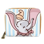 Disney Loungefly Zip Around Wallet - Dumbo Stripes