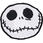 Disney Iron On Patch by Loungefly - Jack Skellington Face - White