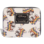 Disney Loungefly Zip Around Wallet - Mickey Rainbow Small