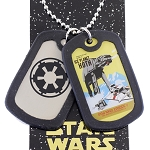 Disney Necklace - Star Wars Ice Planet Hoth X River Cruise Double Dog Tag
