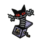 Disney Iron On Patch by Loungefly - NBC - Cat Jack in the Box